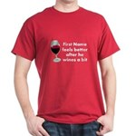 Personalized Wine Gift Dark T-Shirt