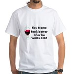 Personalized Wine Gift White T-Shirt