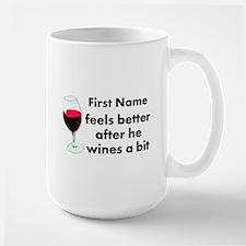 Personalized Wine Gift Large Mug
