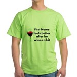 Personalized Wine Gift Green T-Shirt