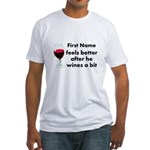 Personalized Wine Gift Fitted T-Shirt