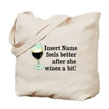 Personalized Wine Gift Tote Bag