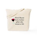 Wine Regular Canvas Tote Bag