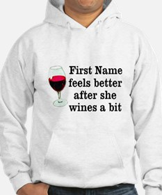 Personalized Wine Gift Jumper Hoodie
