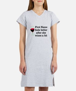 Personalized Wine Gift Women's Nightshirt