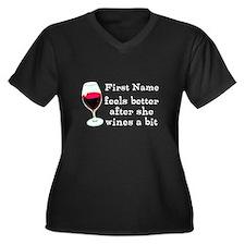 Personalized Wine Gift Women's Plus Size V-Neck Da