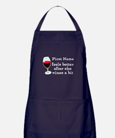 Personalized Wine Gift Apron (dark)