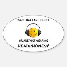 Farts & Headphones Decal