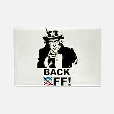 Back Off! Rectangle Magnet