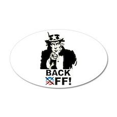 Back Off! 22x14 Oval Wall Peel