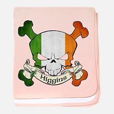 Higgins Skull baby blanket