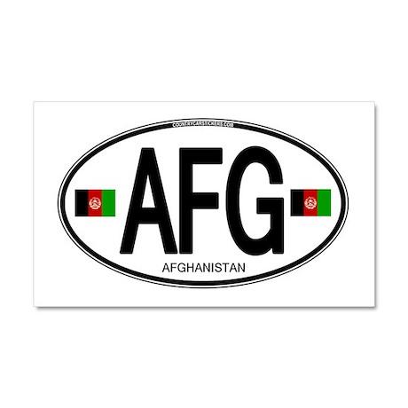 Afghanistan Euro Oval Car Magnet 20 x 12