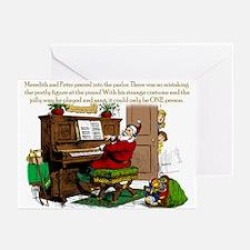 Santa? At Piano Greeting Cards (Pk of 20)