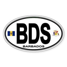Barbadian Euro Oval Decal