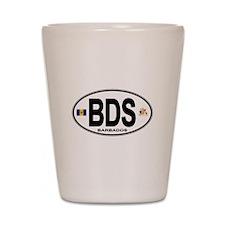Barbadian Euro Oval Shot Glass