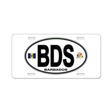 Barbadian Euro Oval Aluminum License Plate