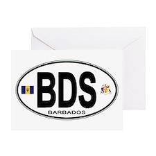 Barbadian Euro Oval Greeting Card