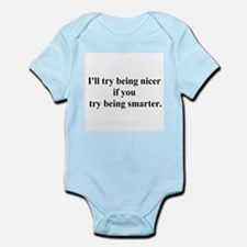 try being smarter Infant Bodysuit
