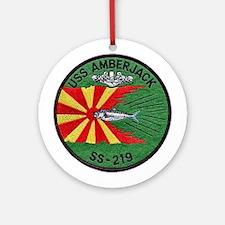 USS Amberjack SS 219 Ornament (Round)