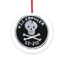 USS Growler SS 215 Ornament (Round)