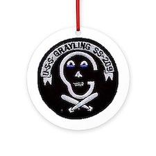 USS Grayling SS 209 Ornament (Round)