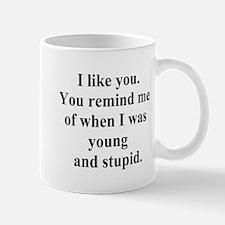 young and stupid Mug