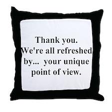 unique view Throw Pillow