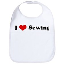 I Love Sewing Bib
