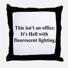 office hell Throw Pillow