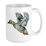 Art Nouveau Mallard Duck Large Mug