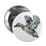 "Art Nouveau Mallard Duck 2.25"" Button"
