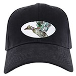 Art Nouveau Mallard Duck Black Cap