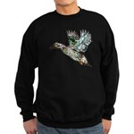 Art Nouveau Mallard Duck Sweatshirt (dark)
