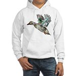 Art Nouveau Mallard Duck Hooded Sweatshirt