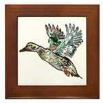 Art Nouveau Mallard Duck Framed Tile
