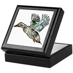 Art Nouveau Mallard Duck Keepsake Box