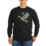 Art Nouveau Mallard Duck Long Sleeve Dark T-Shirt