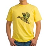 Art Nouveau Mallard Duck Yellow T-Shirt