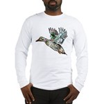Art Nouveau Mallard Duck Long Sleeve T-Shirt