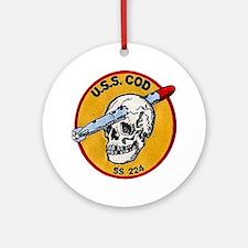 USS Cod SS 224 Ornament (Round)