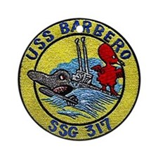 USS Barbero SSG 317 Ornament (Round)
