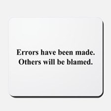 blame others Mousepad