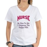 Be nice doctor Womens V-Neck T-shirts