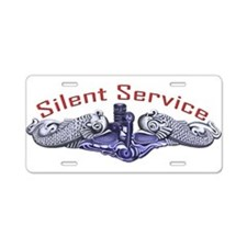 Silver Dolphins Silent Service Aluminum License Pl