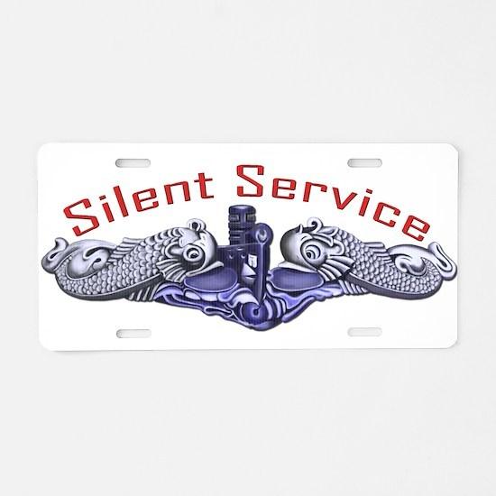 Silver Dolphins Silent Service Aluminum License Pl