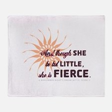 She is Fierce - Burst Throw Blanket