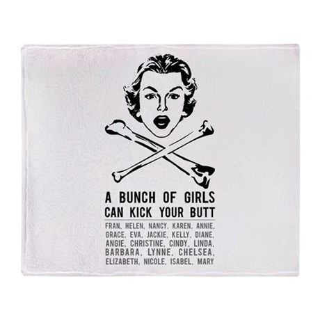 A Bunch of Girls Throw Blanket