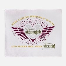 Makes Her Arms Strong Throw Blanket
