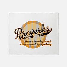 Proverbs Woman Throw Blanket