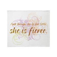 She is Fierce 2 Throw Blanket